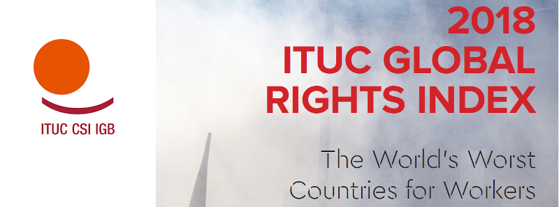 Bilde av ITUC global index
