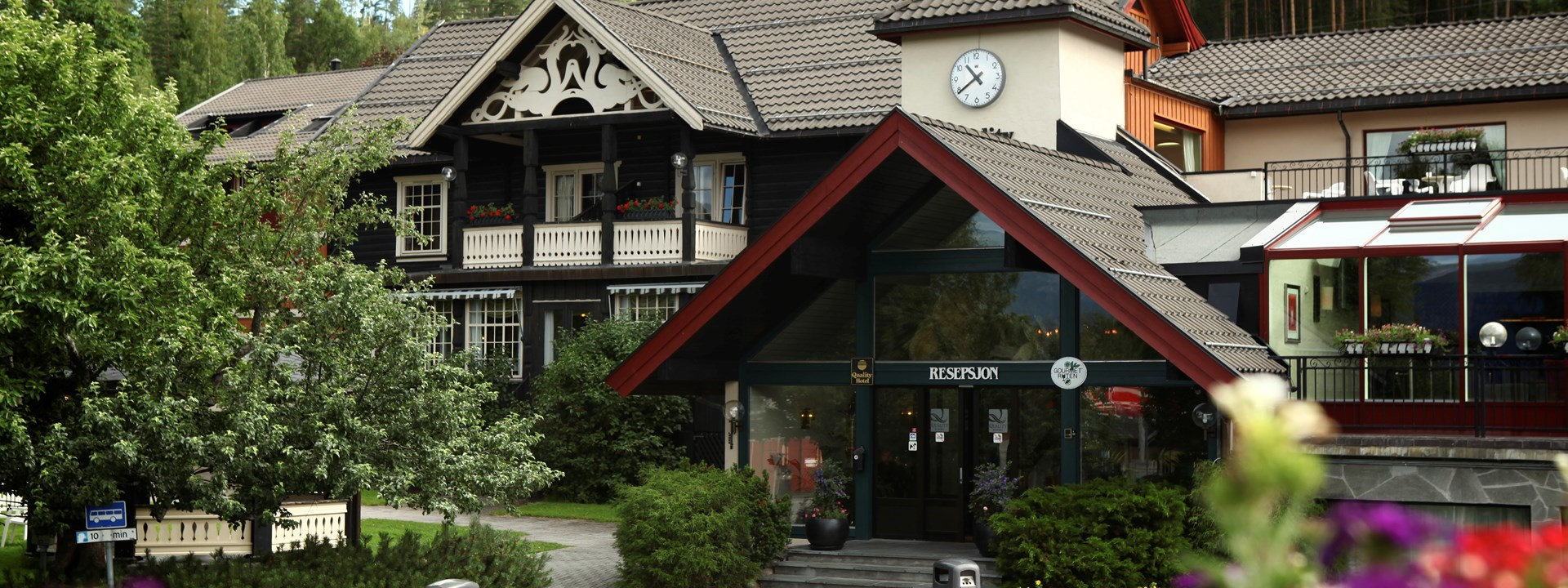 Inngangsparti Straand hotell